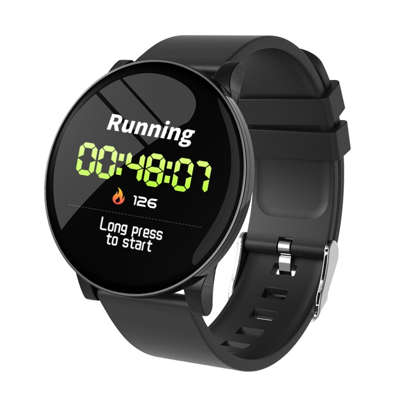 Wholesale W8 Smart Watch Heart Rate Monitor Weather Forecast Fitness Watch Waterproof Bluetooth Smart Band - Black