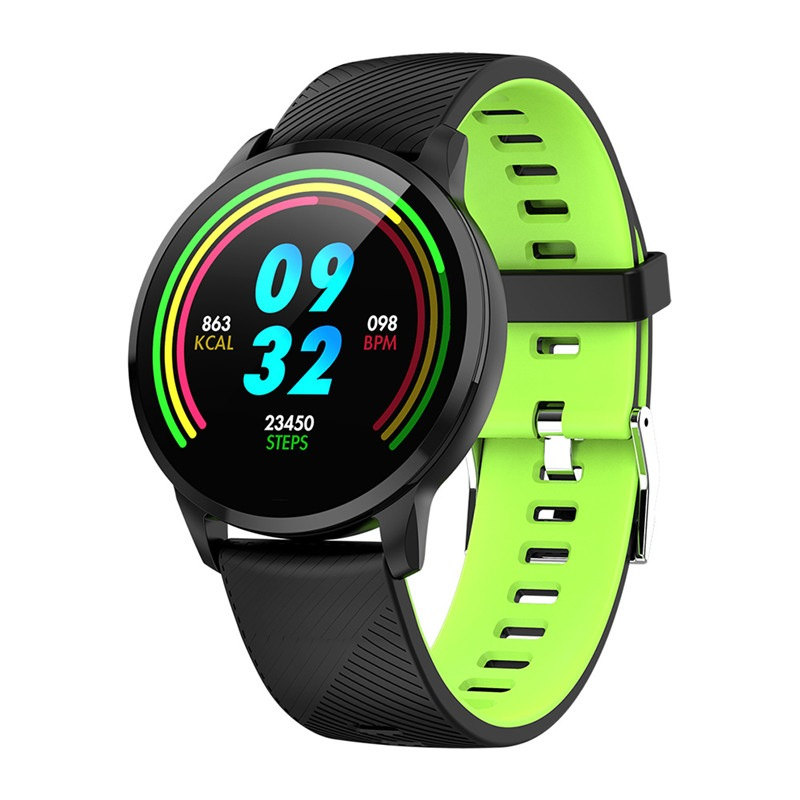 Wholesale S16 Smart Watch Bluetooth Sports Fitness Tracker Heart Rate Monitor Clock Smartwatch - Green