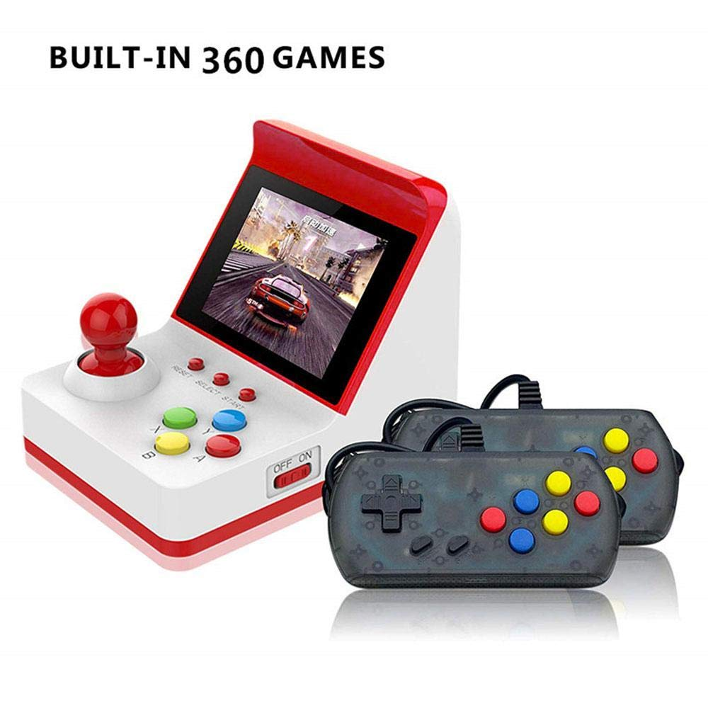 Wholesale Portable Retro Mini Arcade Station Handheld Game Console Built-in 360 Video Games Classic FC Game - Red