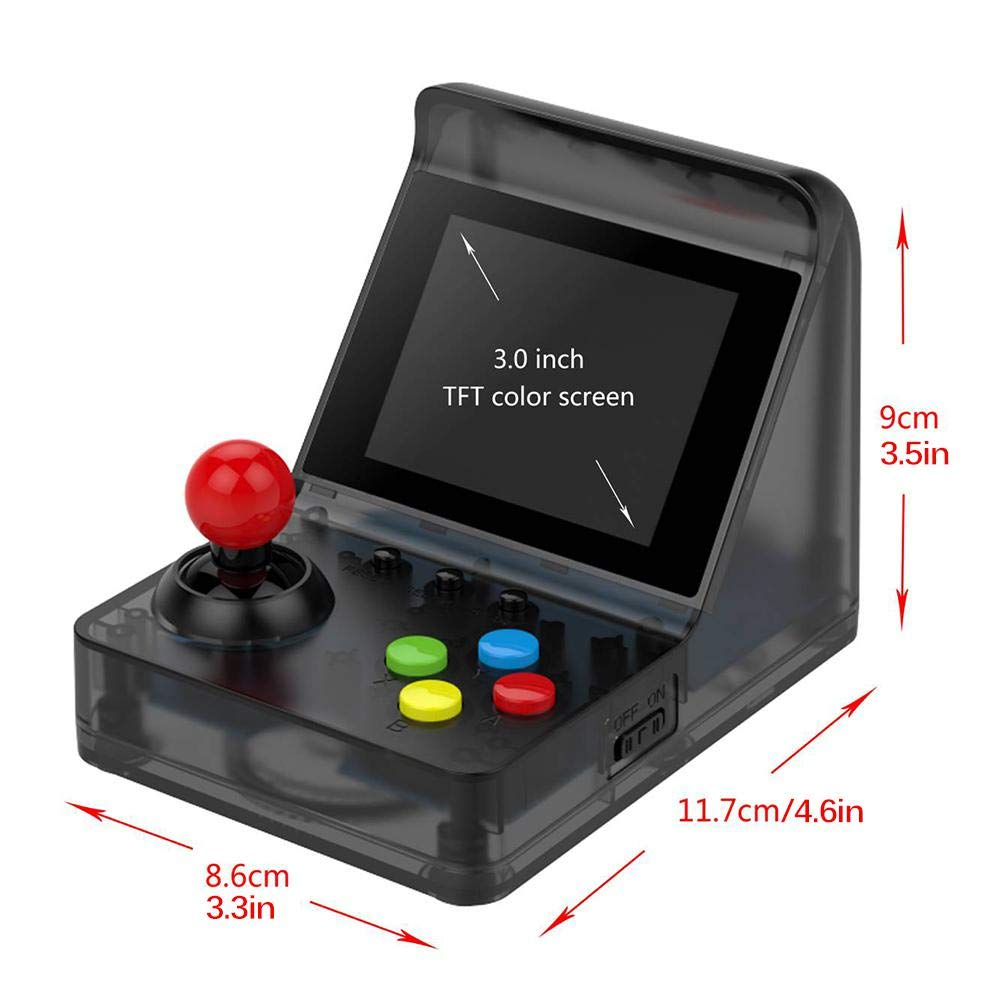 Portable Retro Mini Arcade Station Handheld Game Console Built-in 360 Video Games Classic FC Game - Red