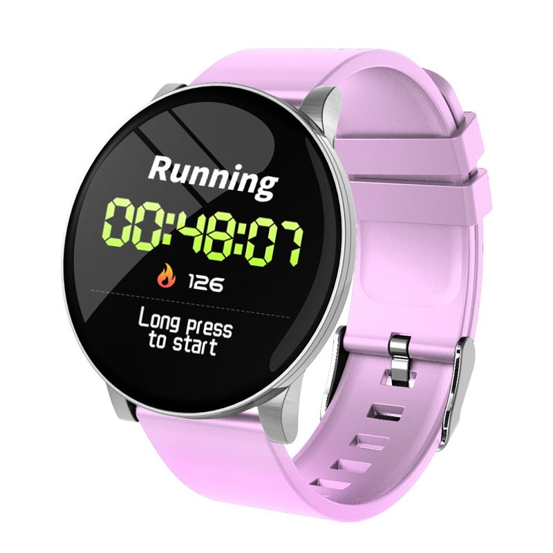 Wholesale W8 Smart Watch Heart Rate Monitor Weather Forecast Fitness Watch Waterproof Bluetooth Smart Band - Pink