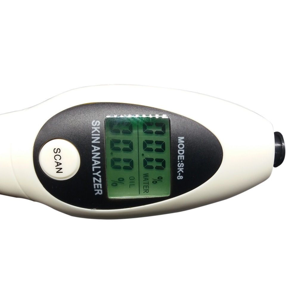 High Accuracy Skin Moisture Oil Analyzer Facial Tester with LCD Display