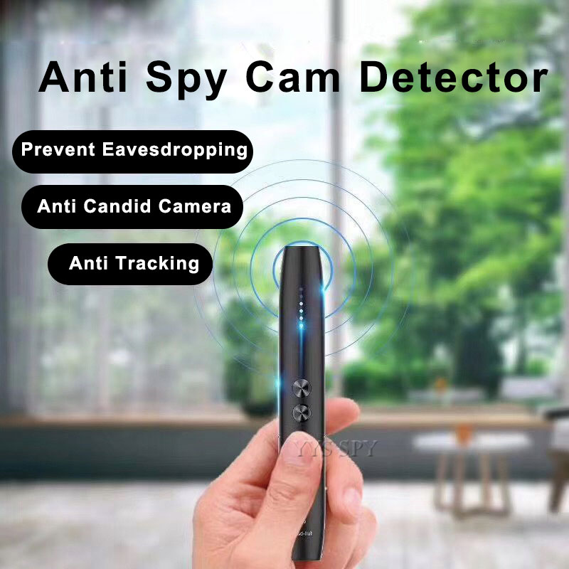 Wholesale Anti Spy Detector RF Detector Camera Finder Tracking Device for Wireless Hidden Camera Detector Pen - Black