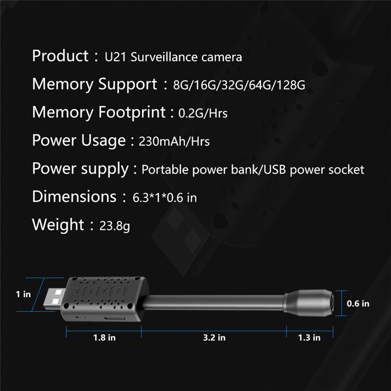 1080p USB Powered WiFi Mini Surveillance IP Camera