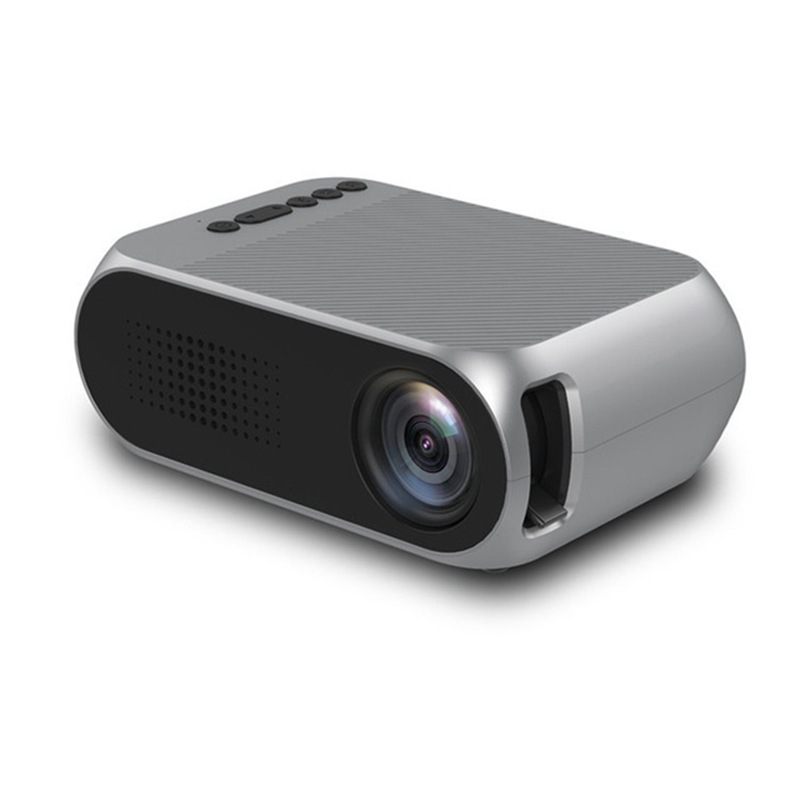 Wholesale Portable Home Theater Mini LED Projector with HDMI In (No Battery, Gray)