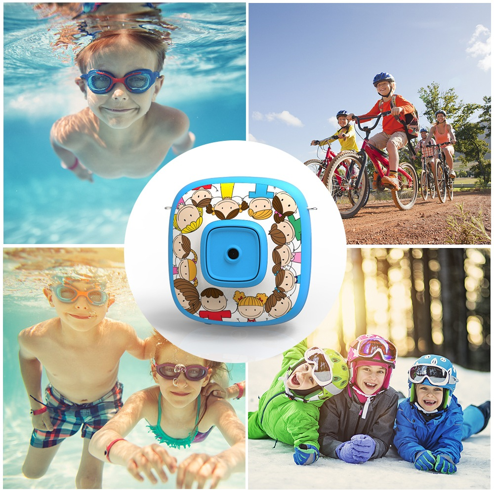 Wholesale Cartoon 1080P Digital Camera Kid Automatic Video Recorder Camcorder - Blue