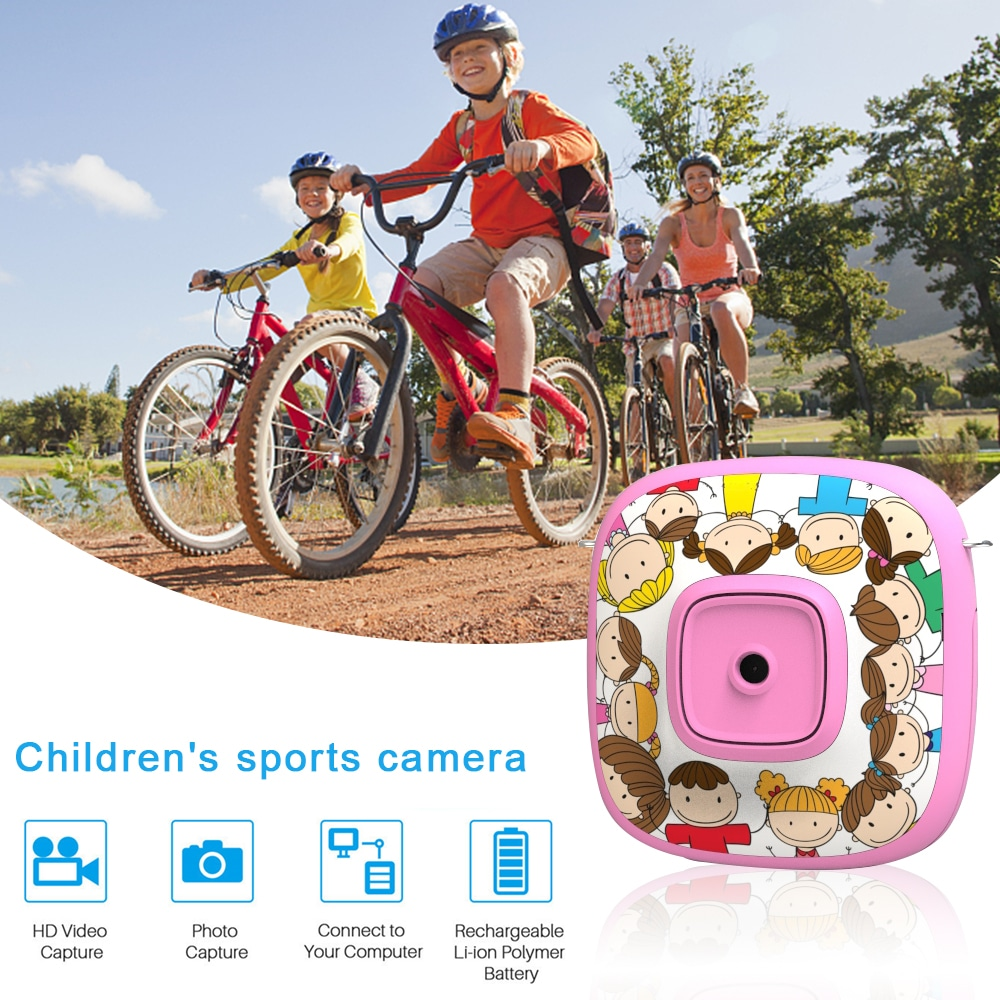 Cartoon 1080P Digital Camera Kid Automatic Video Recorder Camcorder - Blue