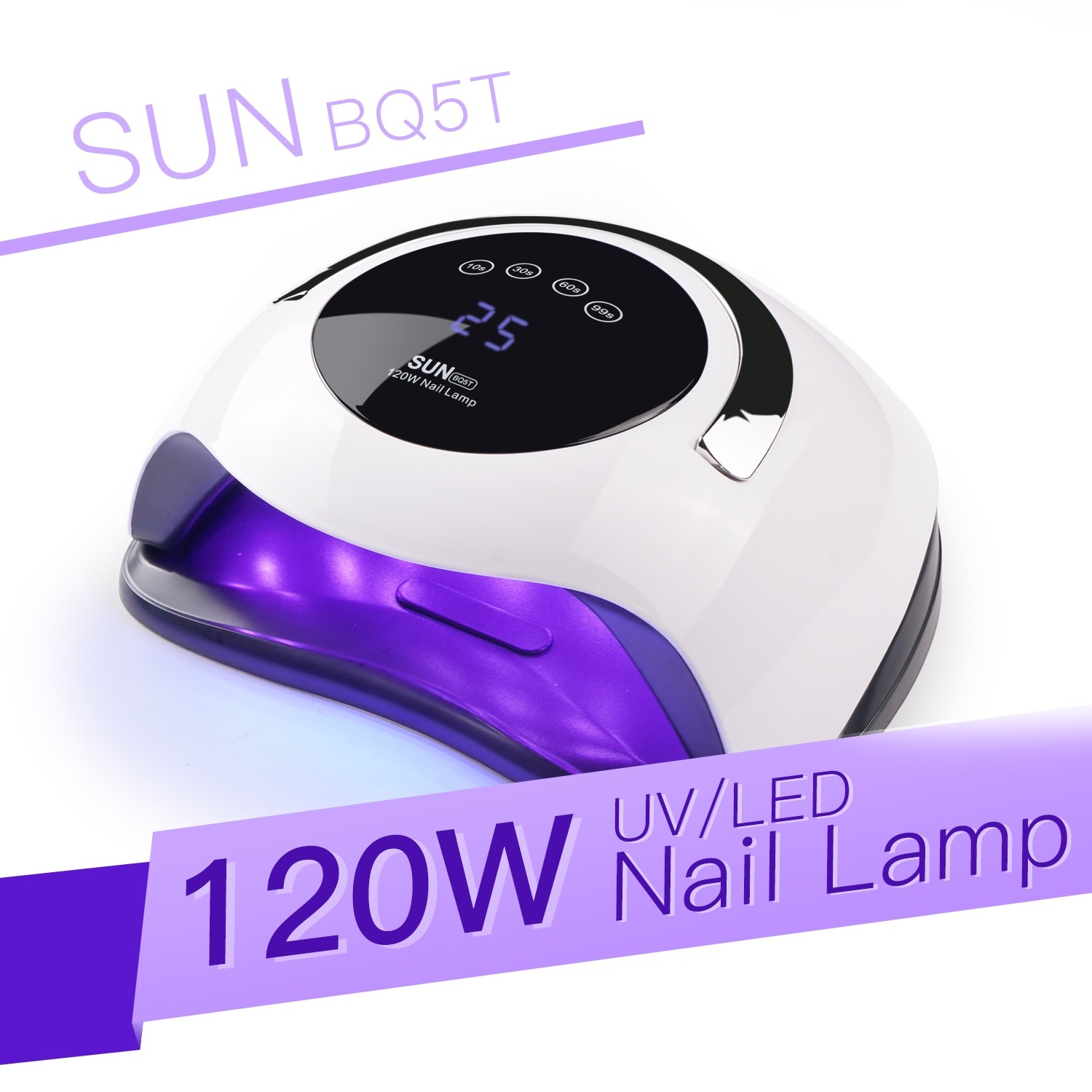Wholesale 120W UV Gel LED Lamp for Nails Nail Drying Polish (LCD Display, Auto Sensing)
