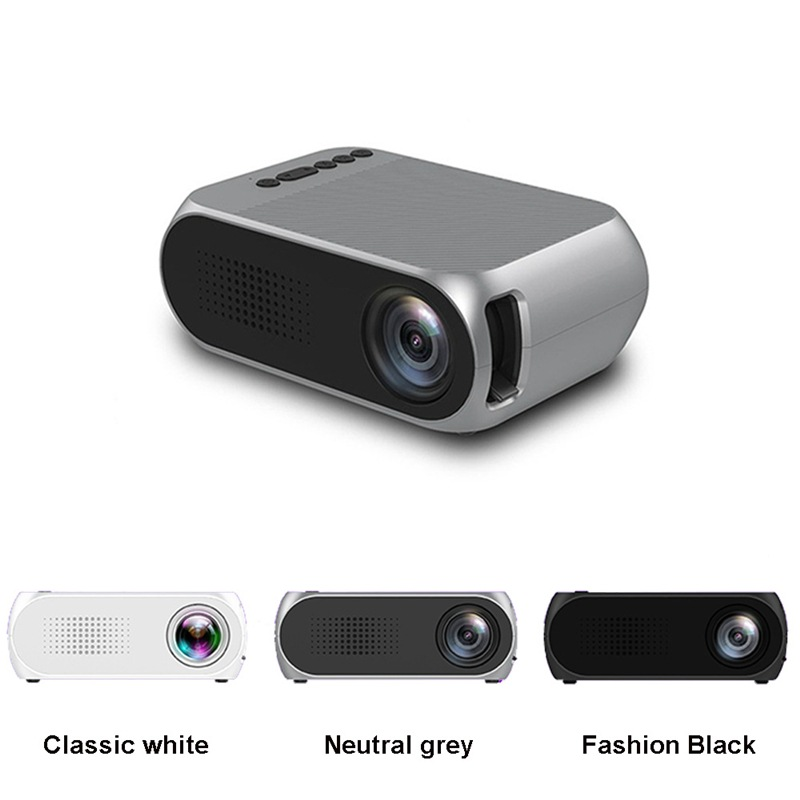 Wholesale Portable Home Theater Mini LED Projector with HDMI In (No Battery, Black)