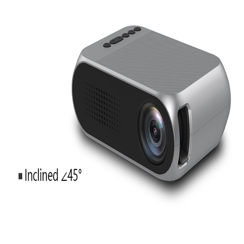 Portable Home Theater Mini LED Projector with HDMI - Black