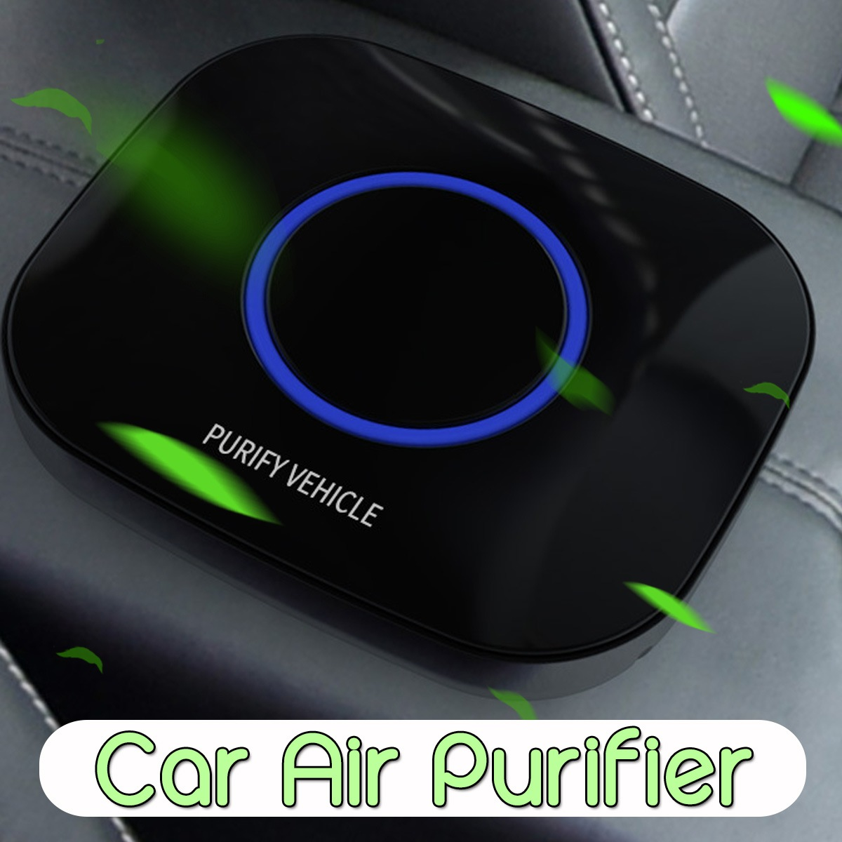 Wholesale Car Air Purifier with Filter Formaldehyde Freshener Cigarette Smoke Vehicle Smart Purifying - Black