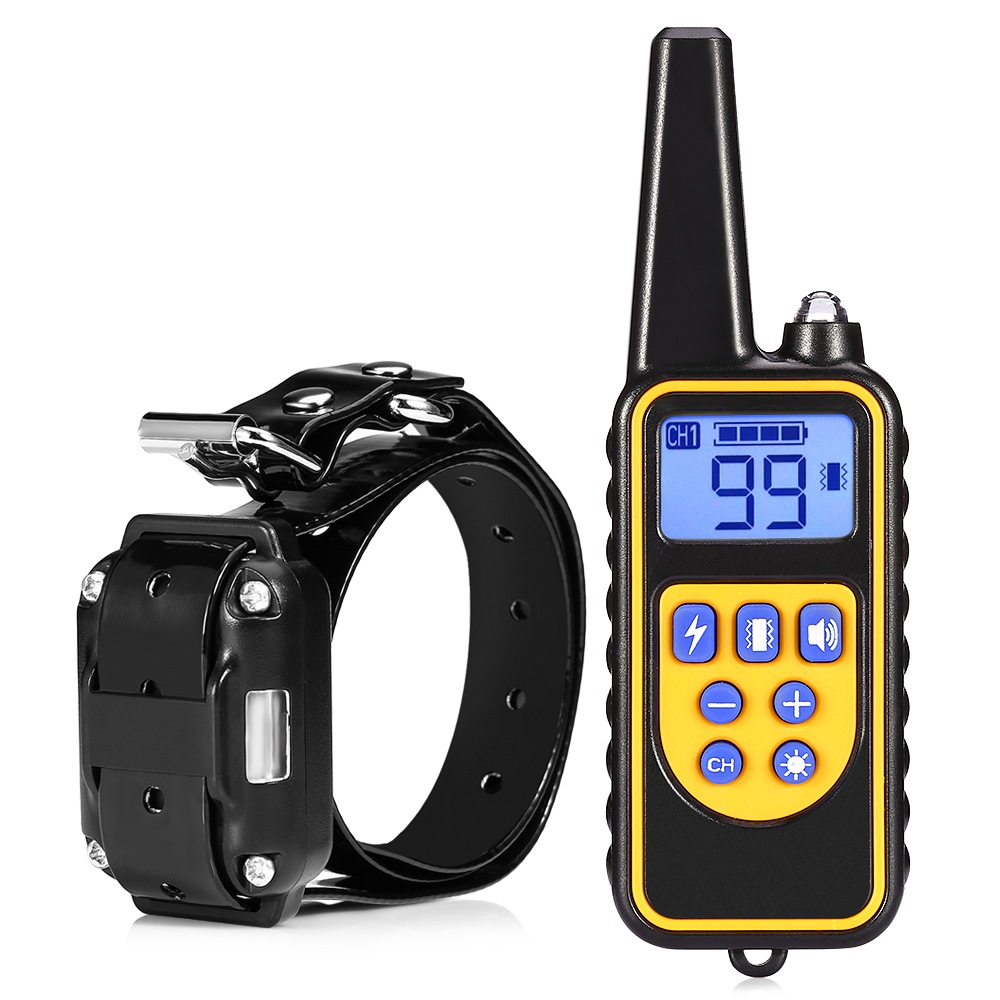Wholesale 880 IP6X Waterproof Rechargeable Electric Dog Training Collar with 800 Meter Remote Control