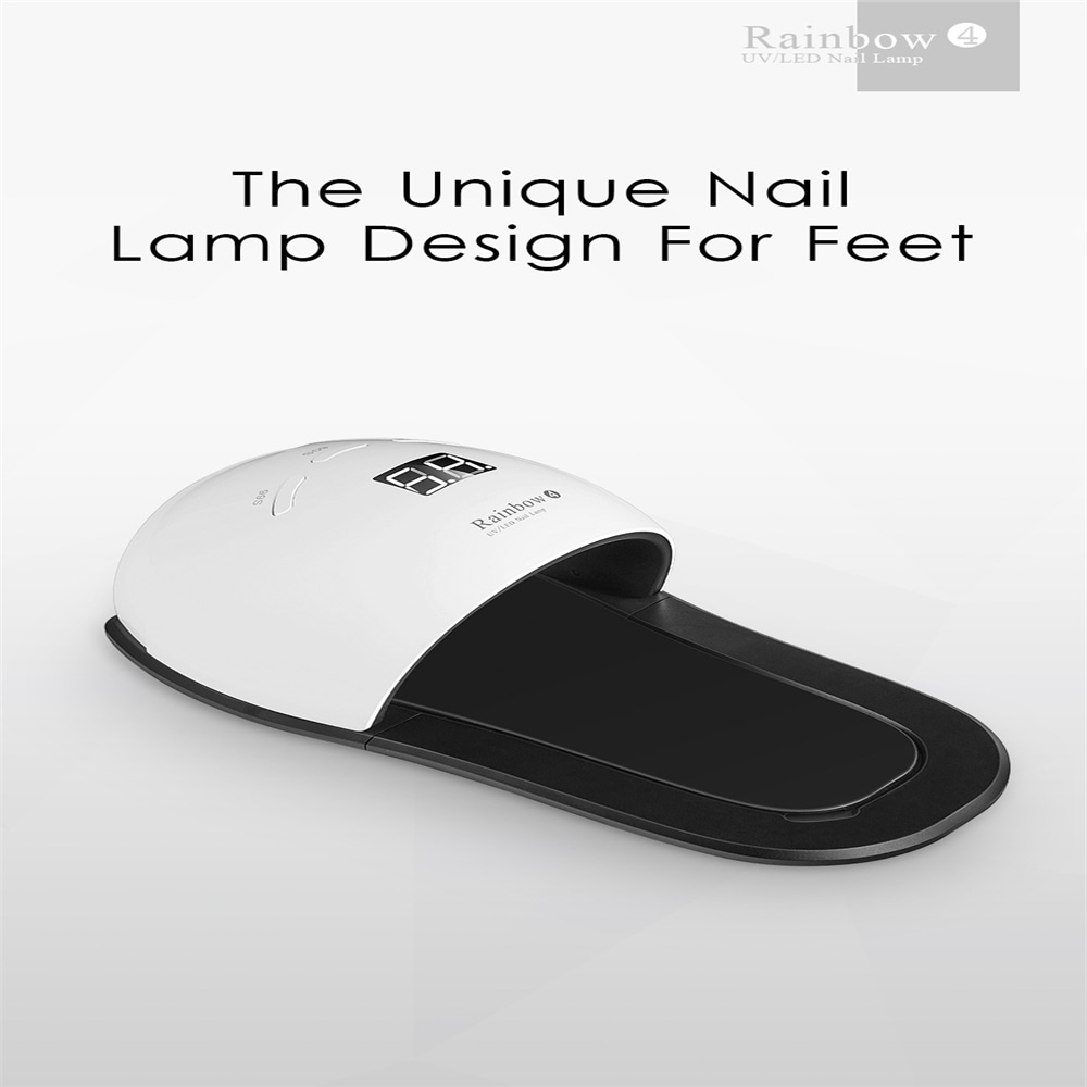 48W LED UV Gel Nail Lamp Dryer Manicure with Automatic Sensor for Toenail - White