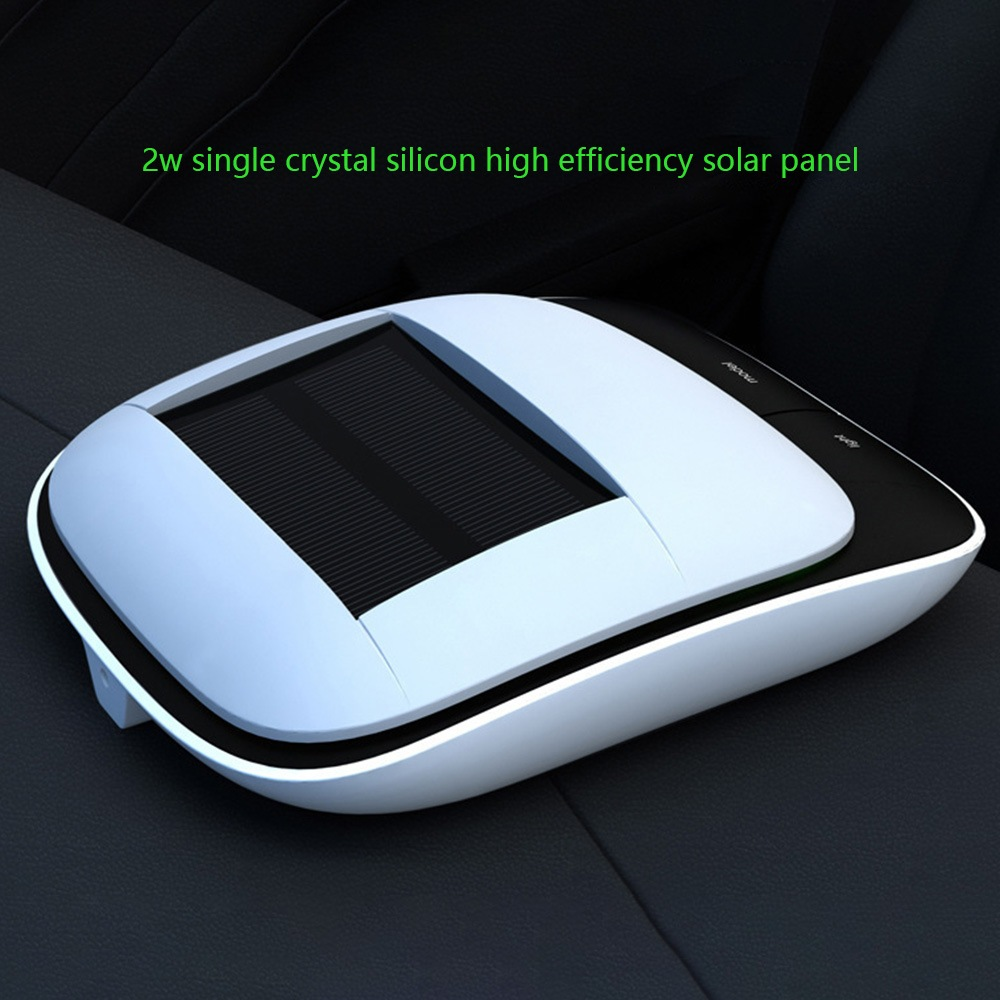Wholesale Intelligent Solar Car Air Purifier with Deodorizer, Air Ionizer - White