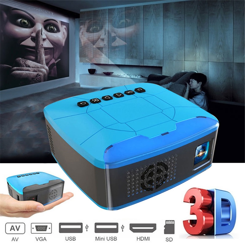 Wholesale Mini Projector USB HDMI AV Video Projector Home Theater Movie Projector for Home Cinema Ful Lumens