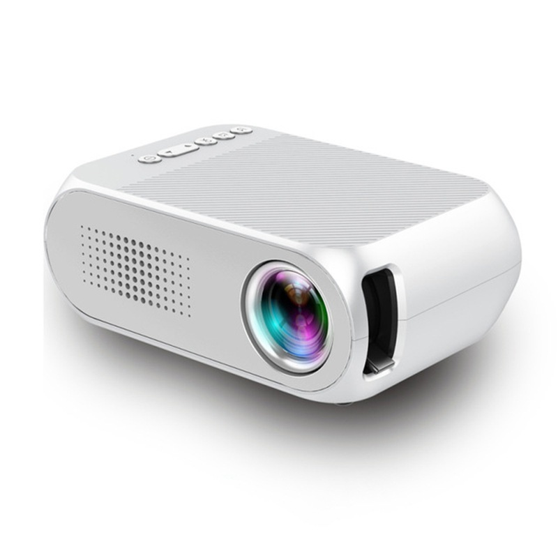 Wholesale Portable Home Theater Mini LED Projector with HDMI In (No Battery, White)