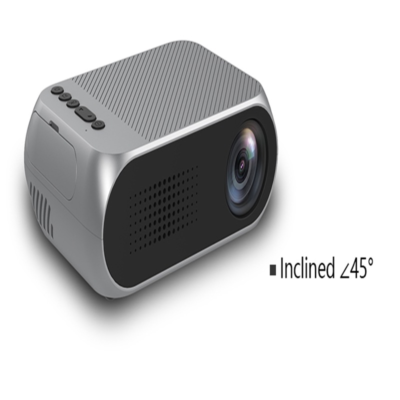 Portable Home Theater Mini LED Projector with HDMI - White