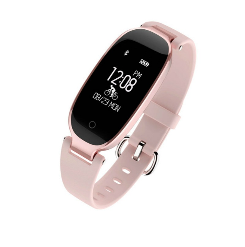 Wholesale S3 Waterproof Smart Band Bracelet Fashion for Girl Lady pk mi band 2 3 - Rose Gold