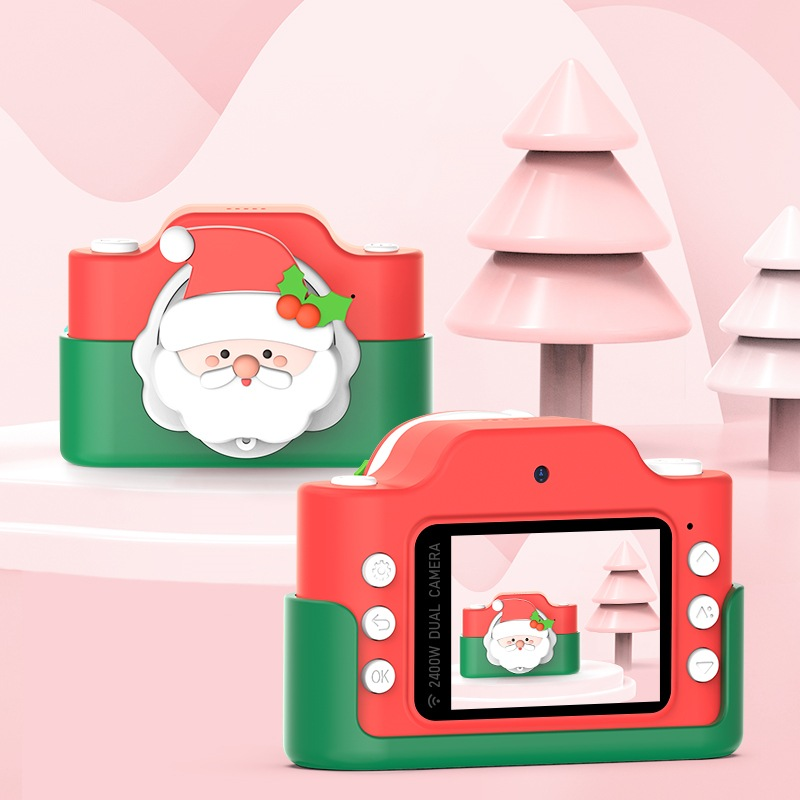 Wholesale 2 Inch HD IPS Rechargable Christmas Children Digital Camera for Kids