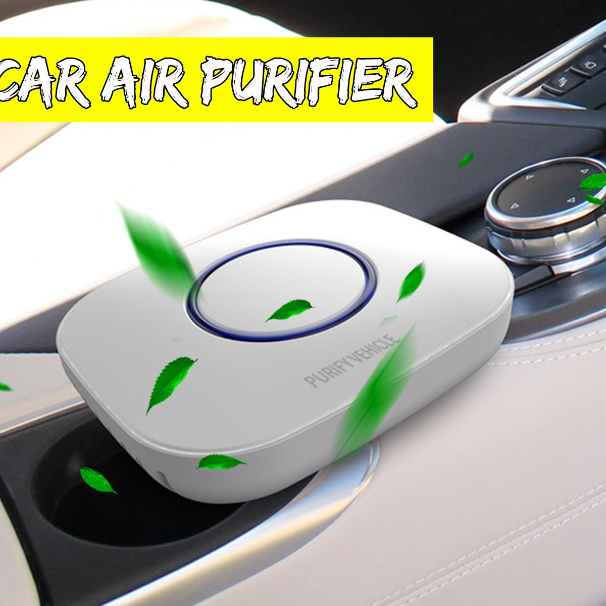 Wholesale Car Air Purifier Purify Vehicle with Filter Formaldehyde Freshener Cigarette Smoke Smart Purifying - White