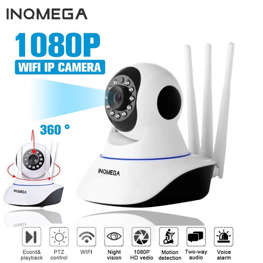 Wholesale INQMEGA HD 1080P Wireless WiFi Indoor IP Camera Baby Monitor (PT