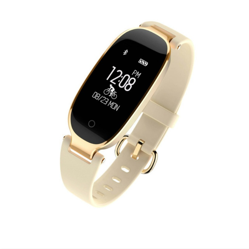 Wholesale S3 Waterproof Smart Band Bracelet Fashion for Girl Lady pk mi band 2 3 - Gold