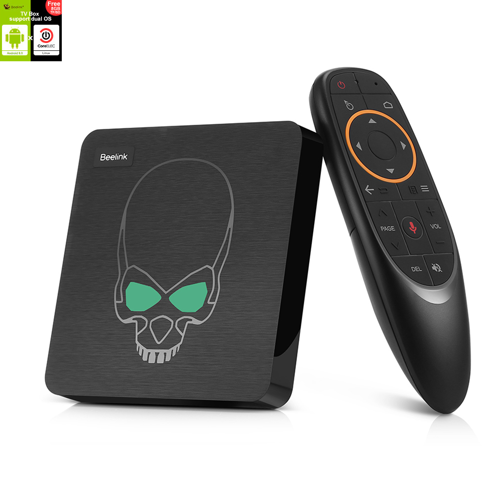 Wholesale Beelink GT-King Android 9.0 TV Box (4K 60fps, Voice Remote Control, 4GB DDR4 + 64GB ROM, 5G WiFi, Black)