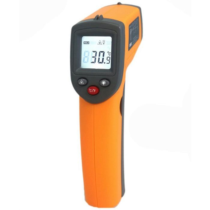 Wholesale GS320 Laser Digital LCD IR Infrared Thermometer Auto Temperature Meter Gun Non Contact Sensor -50°C~360°C/-58&
