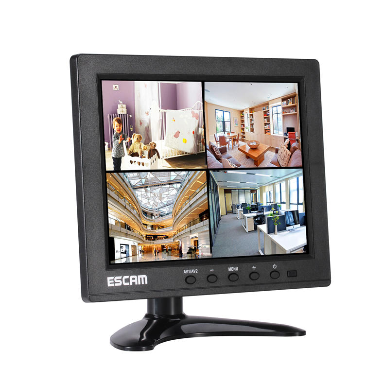 Wholesale ESCAM T08 8 inch TFT LCD 1024x768 Monitor with VGA HDMI AV BNC USB for PC CCTV Security Camera