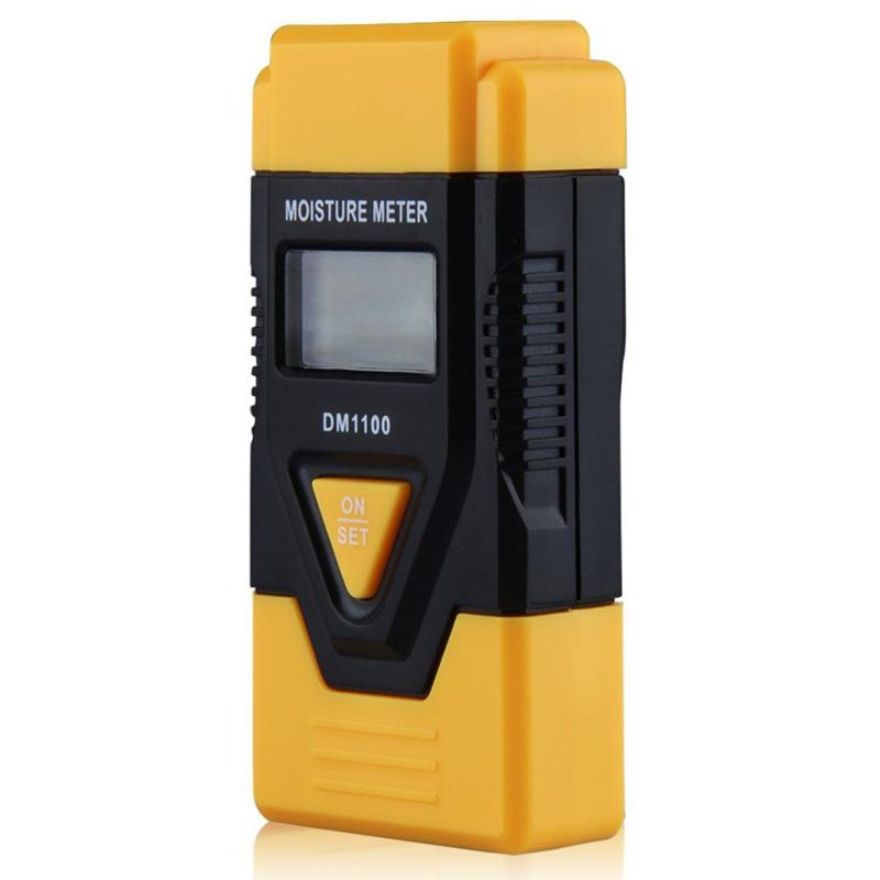 3-In-1 Digital Wood Moisture Meter for Measuring Paper, Hardened Material, Temperature