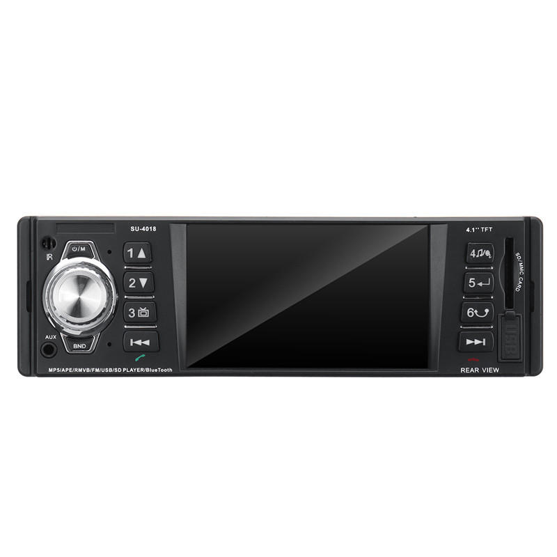 SU-4018 Bluetooth Car MP5 Player with 4.1 Inches Touchscreen, Clock Display, FM Radio, Aux In