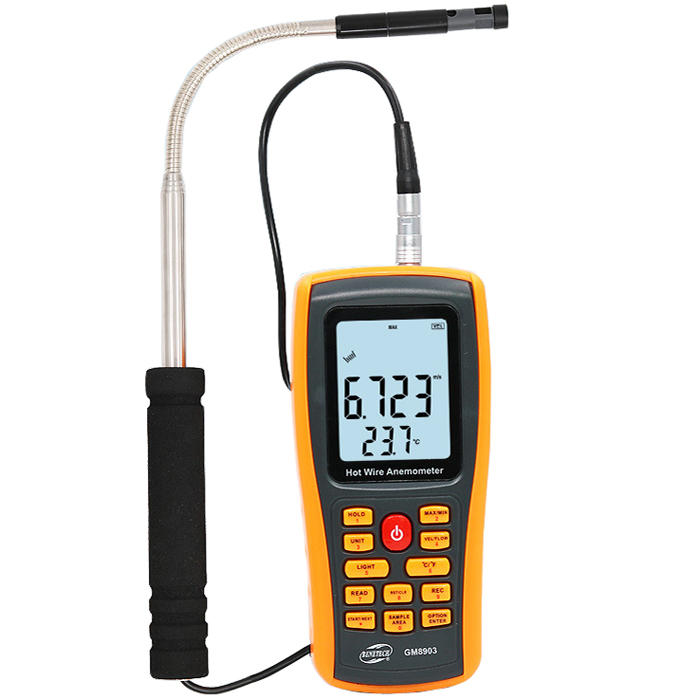 Wholesale GM8903 Anemometer Wind Speed Meter Temperature Measure USB Interface