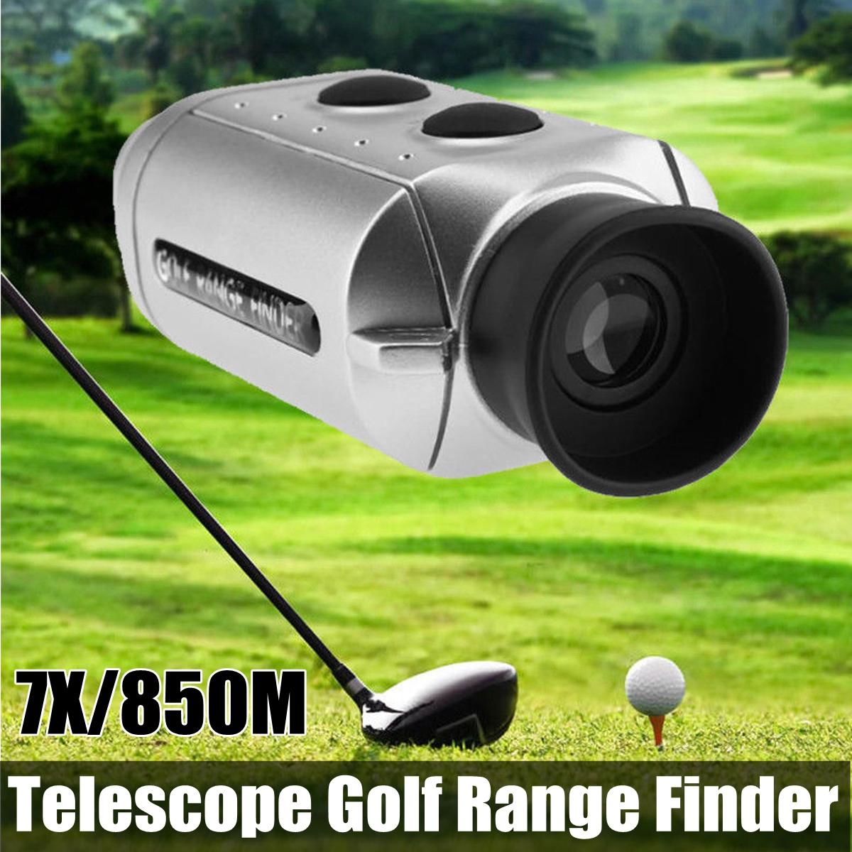 Telescope Laser Golf Range Finder Single Cylinder Speed Distance Meter Digital Scope (850 Meter Range, 7x Magnification)