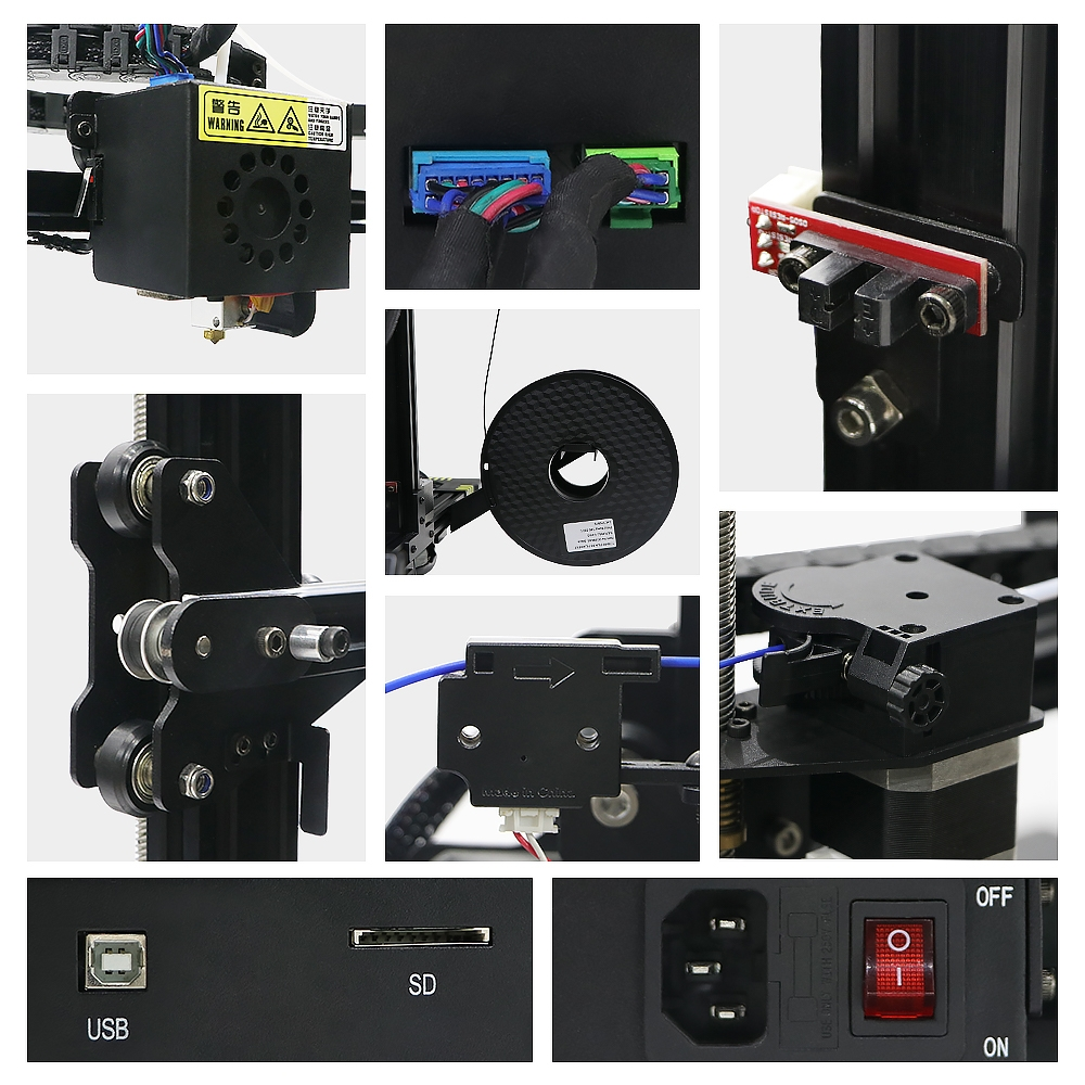 Anycubic Chiron 3D Printer 400*400*450mm Printing Size With Matrix Automatic Leveling/Ultrabase Pro Hotbed/Power Resume/Filament S