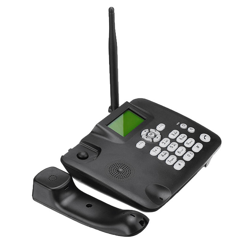 Quad-Band 2G GSM Wireless Desk Telephone with Built-in 1000mAh Battery