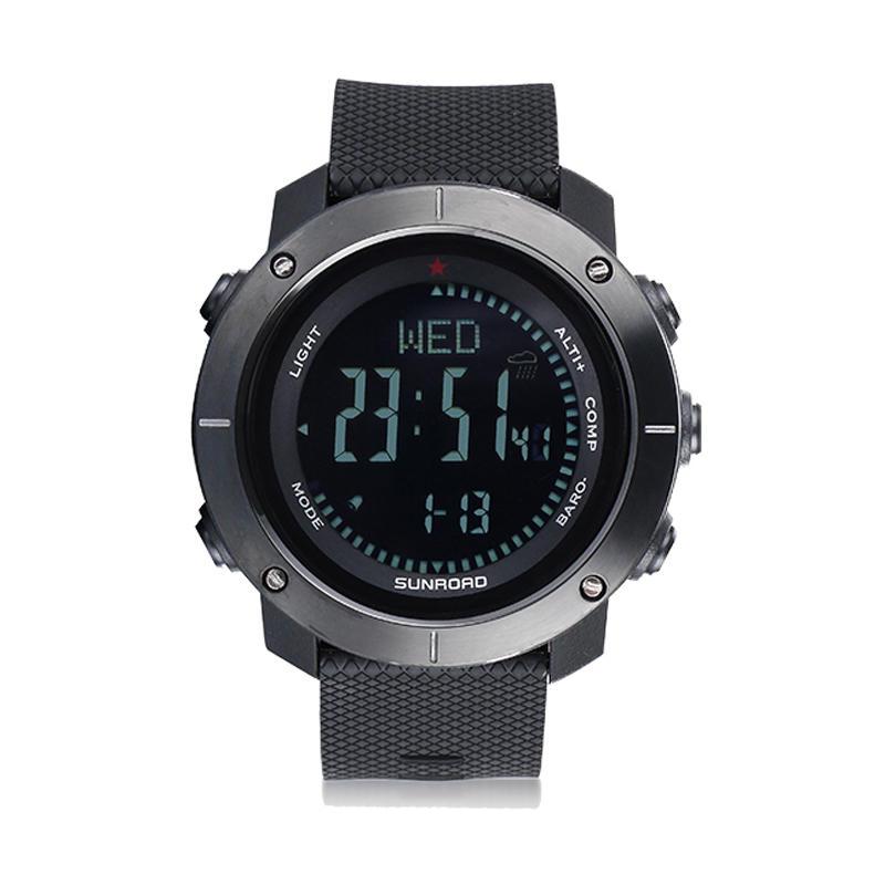 SUNROAD CARBINE 5ATM Waterproof Smart Bracelet Pedometer Altimeter Barometer Outdoor Digital Sports Smart Watch