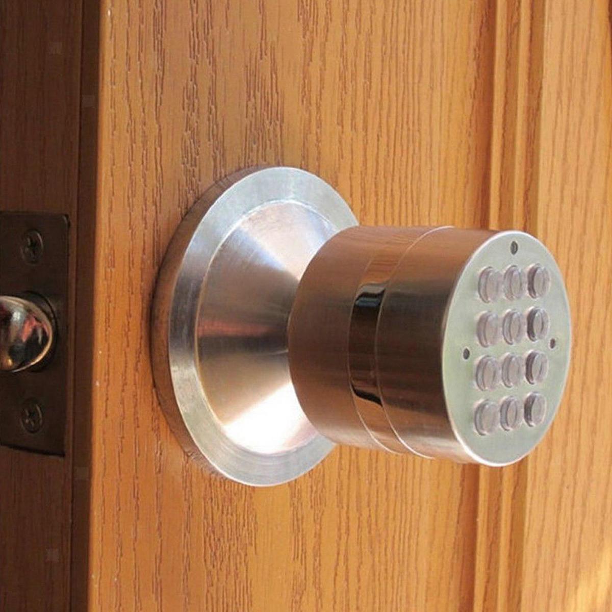 Electronic Digital Keyless Code Smart Door Lock Keypad Security Handle Home Safety Entry Lock