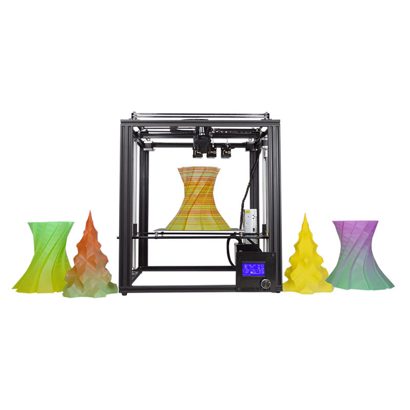 Wholesale Zonestar Z9M3 3-in-1-out Mixed Color Full Metal 3D Printer 300*300*400mm Printing Size With Three Extruder/Auto Mixing Color Engin