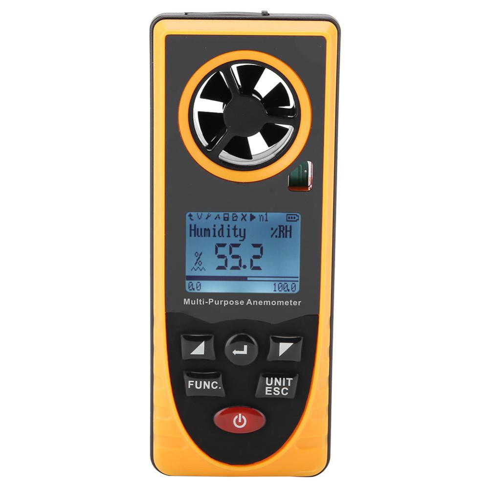 Wholesale GM8910 Digital Anemometer Wind Speed Meter Multifunctional LCD Display Air Wind Speed Meter