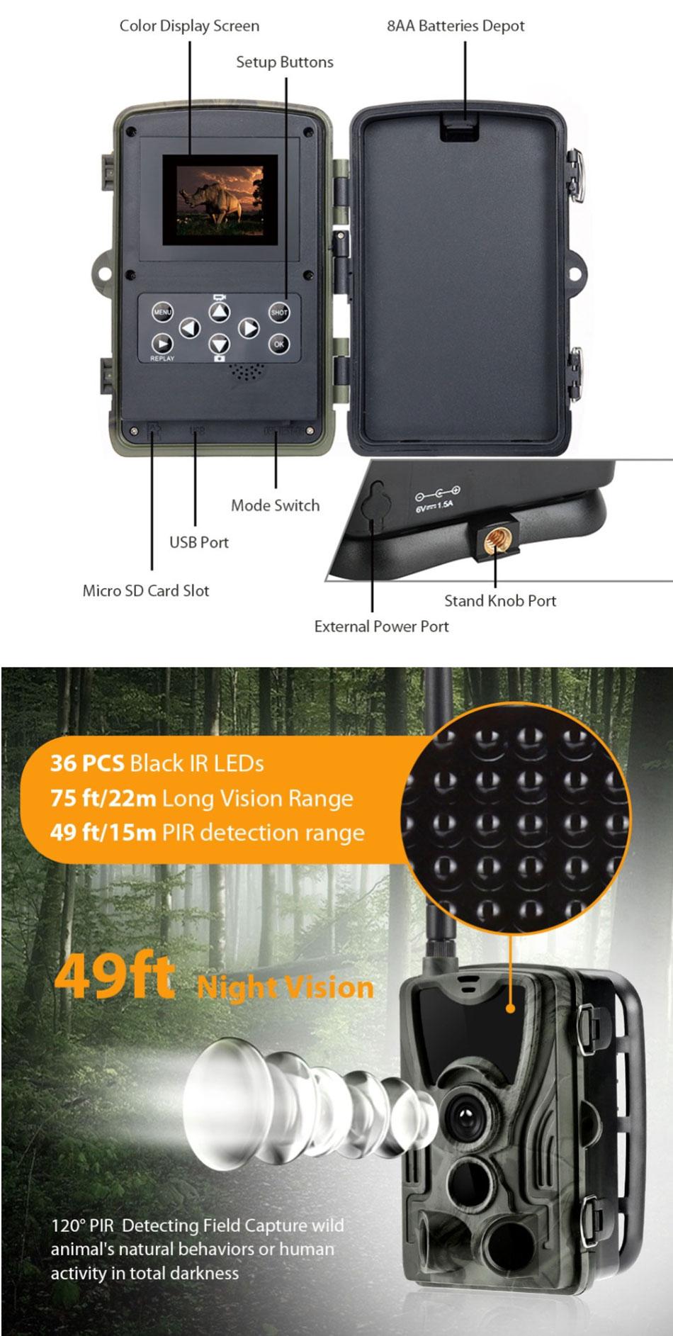 HC-801G 16MP 3G 1080P HD Waterproof SMS/MMS/SMTP 940nm Hunting Trail Track Camera