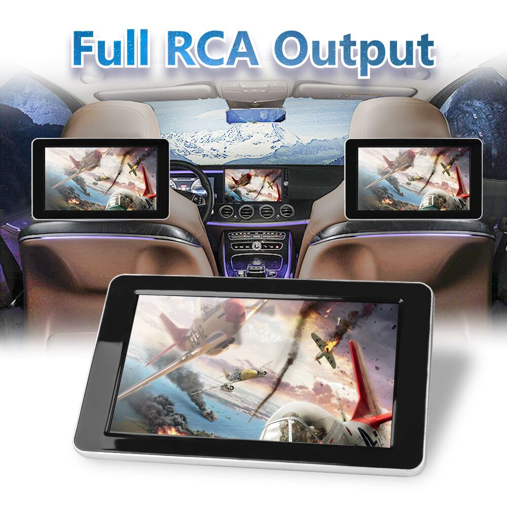 9 Inch HD Car Headrest Video Monitor for DVD Player, Rear View Camera