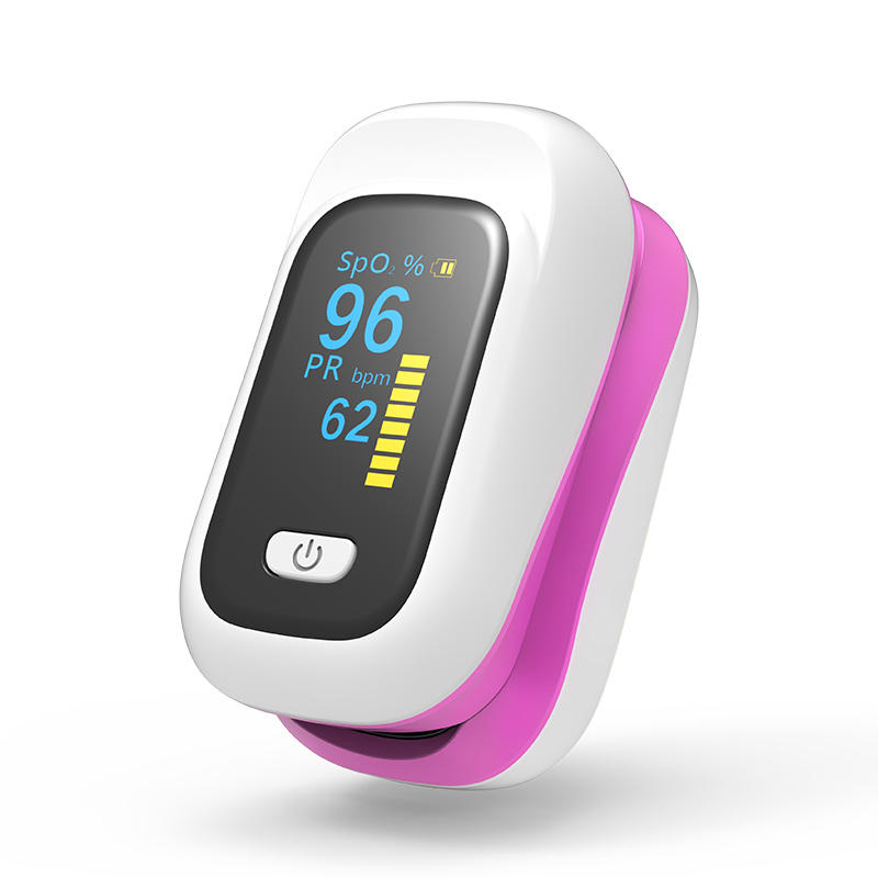 Wholesale Mini OLED Finger-Clamp Pulse Oximeter Home Heathy Blood Oxygen Saturation Monitor - Pink