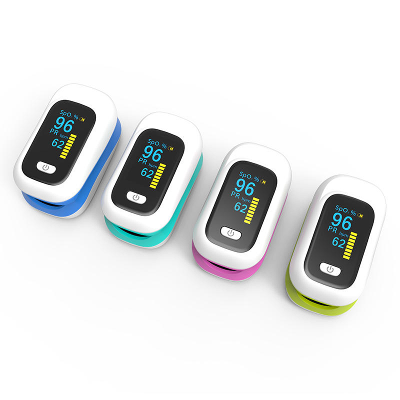 Mini OLED Finger-Clamp Pulse Oximeter Home Heathy Blood Oxygen Saturation Monitor - Pink