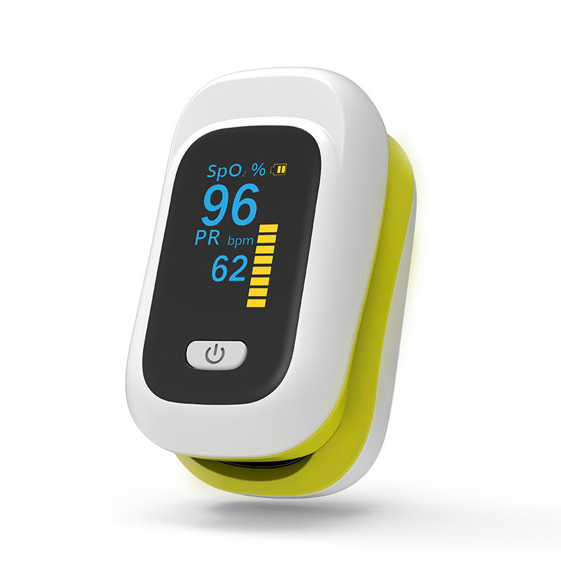 Wholesale Mini OLED Finger-Clamp Pulse Oximeter Home Heathy Blood Oxygen Saturation Monitor - Yellow