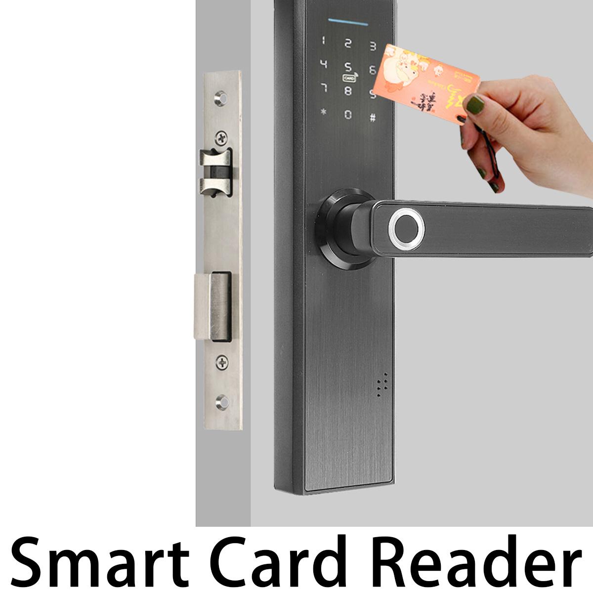 Biometric Fingerprint Smart Electronic Door Lock - Black