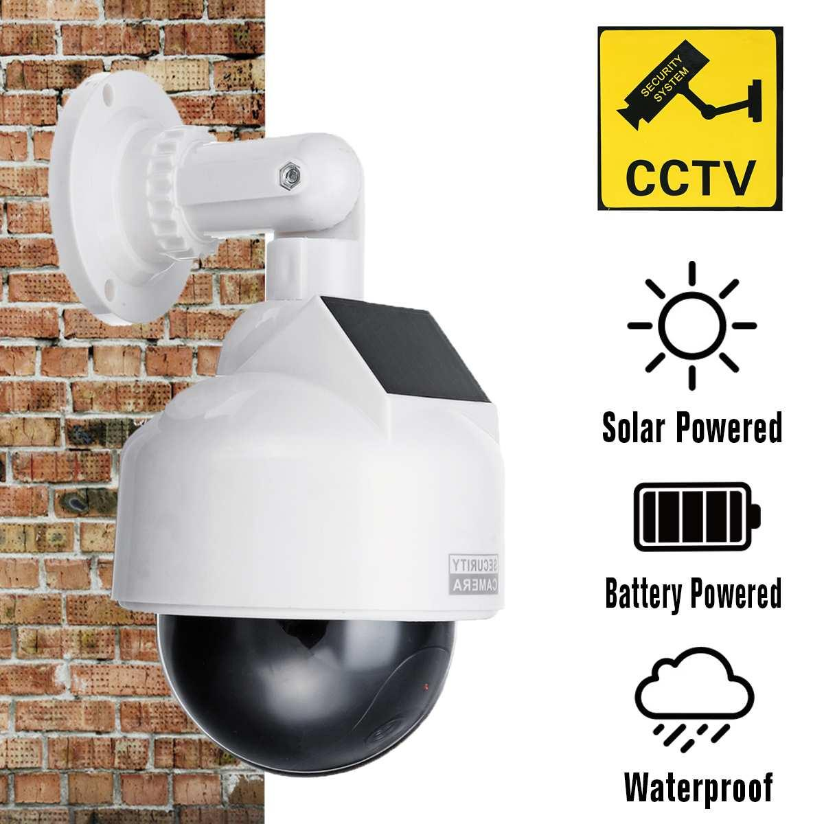 Wholesale Dummy Waterproof Security Camera Solar Power Outdoor Simulation Dummy Camera Waterproof Security CCTV Dummy Surveillance Camera Sy