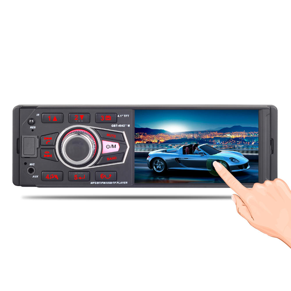 Wholesale 4042 4.1 Inch 1DIN Car MP5 Player with Remote Control, RDS Radio, Bluetooth, Rear View Camera