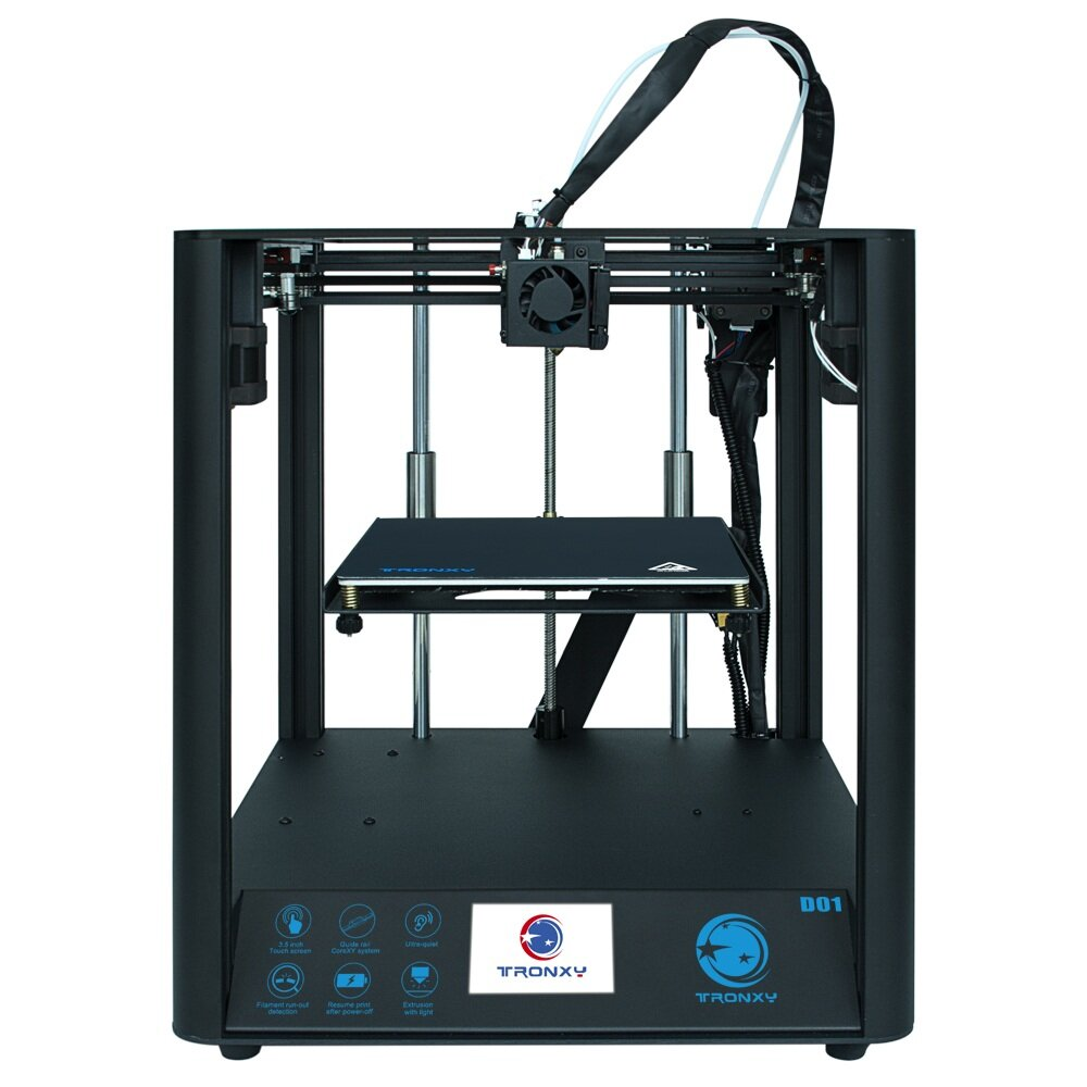 Wholesale TRONXY D01 Fast Assembly 3D Printer Ultra-Quiet Mode Titan Extruder Acrylic Mask Optional - Acrylic Mask