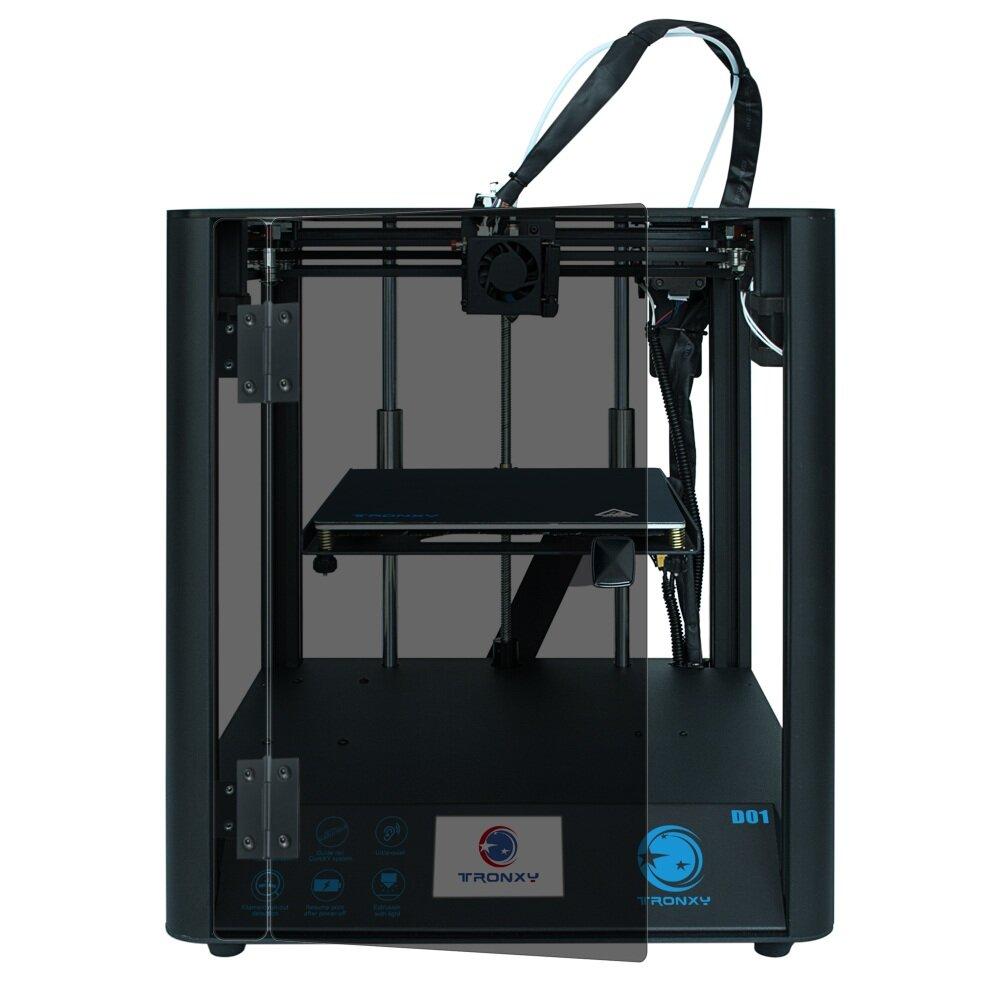 TRONXY D01 Fast Assembly 3D Printer Ultra-Quiet Mode Titan Extruder Acrylic Mask Optional - Acrylic Mask