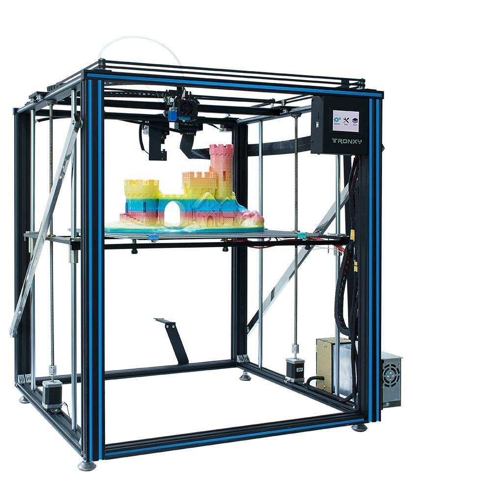 Wholesale TRONXY X5SA-500PRO Upgraded Aluminum 3D Printer 500*500*600mm Large Printing Size With Titan Extruder Ultra Quiet Mode OSG Dual Ax